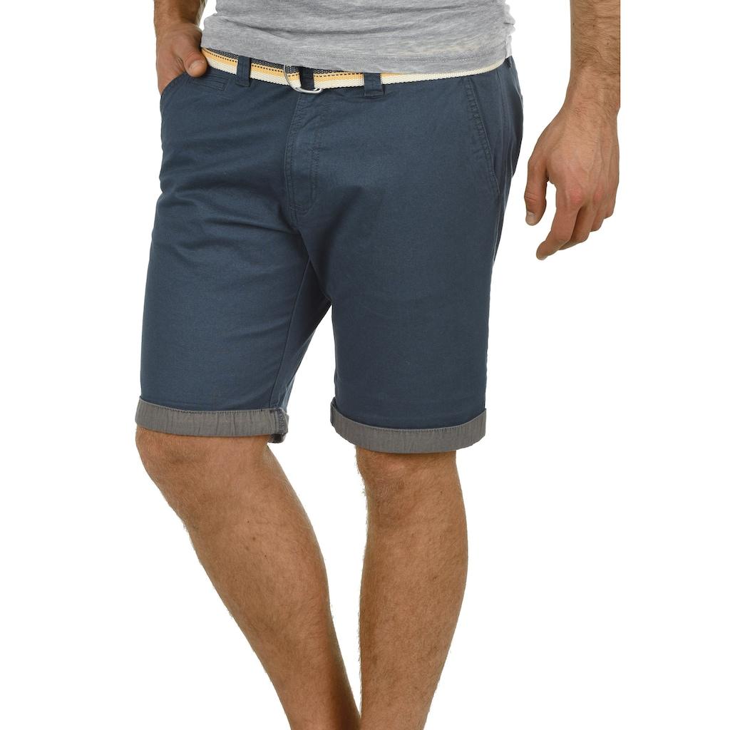 Solid Chinoshorts »Lagos«, (mit abnehmbarem Gürtel), kurze Hose mit Gürtel