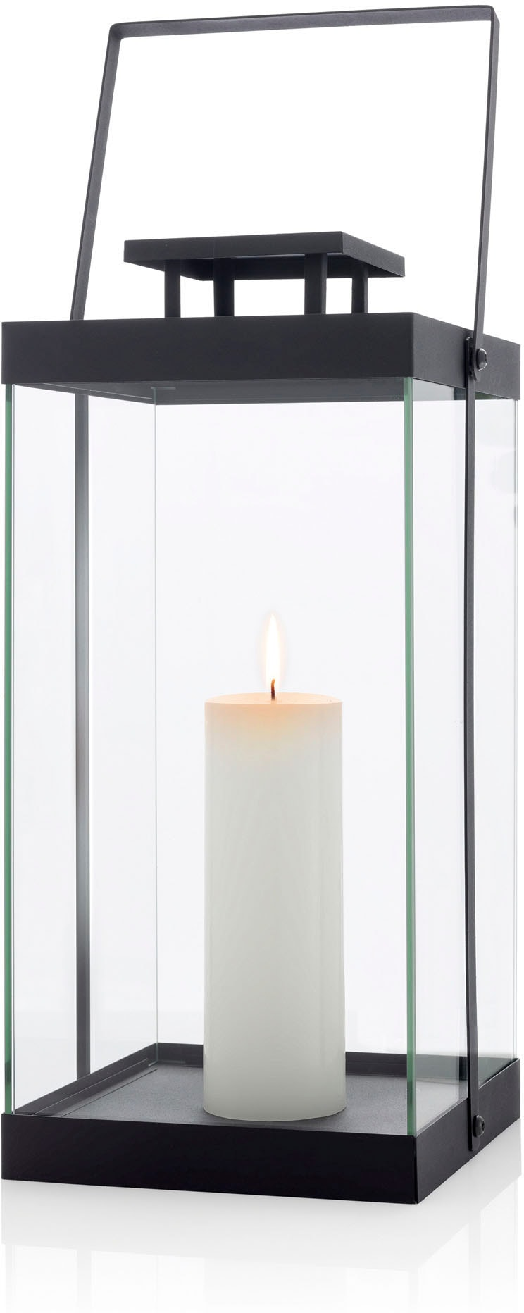 BLOMUS Kerzenlaterne Laterne -FINCA- groß - black schwarz Kerzenhalter Kerzen Laternen Wohnaccessoires