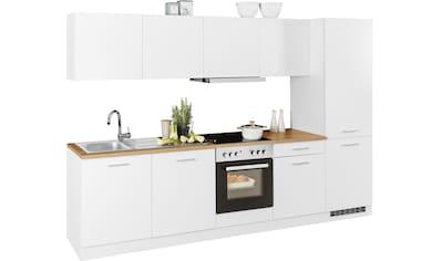 HELD MÖBEL Küchenzeile »Kehl«, mit E-Geräten, Breite 300 cm kaufen