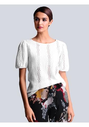 Alba Moda Kurzarmshirt, mit Lochstickerei kaufen