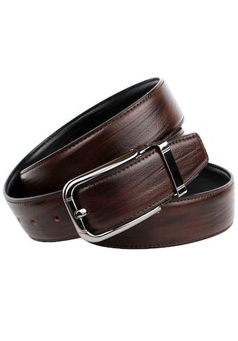 Anthoni Crown Ledergürtel, Klassischer Wendegürtel kaufen