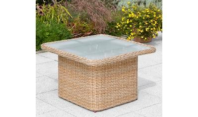 MERXX Gartentisch »Duplex Tisch«, Polyrattan, 72x72 cm, natur kaufen