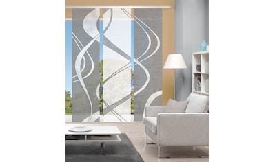 Vision Schiebegardine »TIBONO 3er SET«, Bambus-Optik, Digital bedruckt kaufen