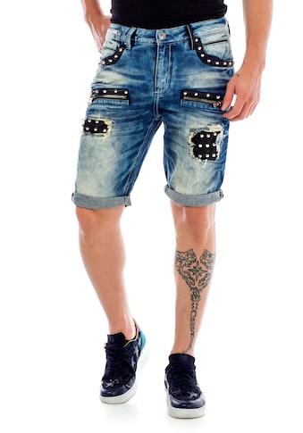 Cipo & Baxx Shorts, mit stylischer Nietenverzierung kaufen