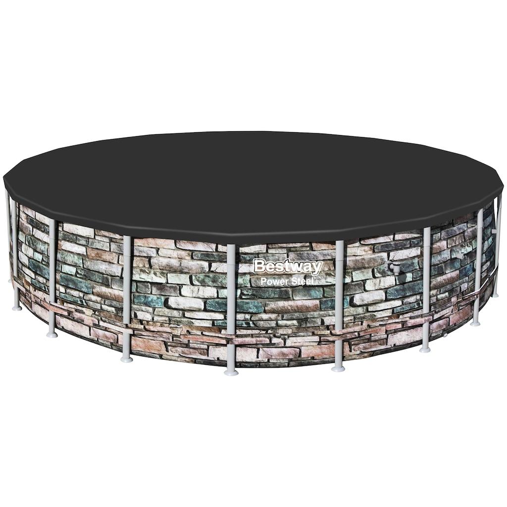 Bestway Rundpool »Power Steel™ Frame«, (Set), ØxH: 610x132 cm