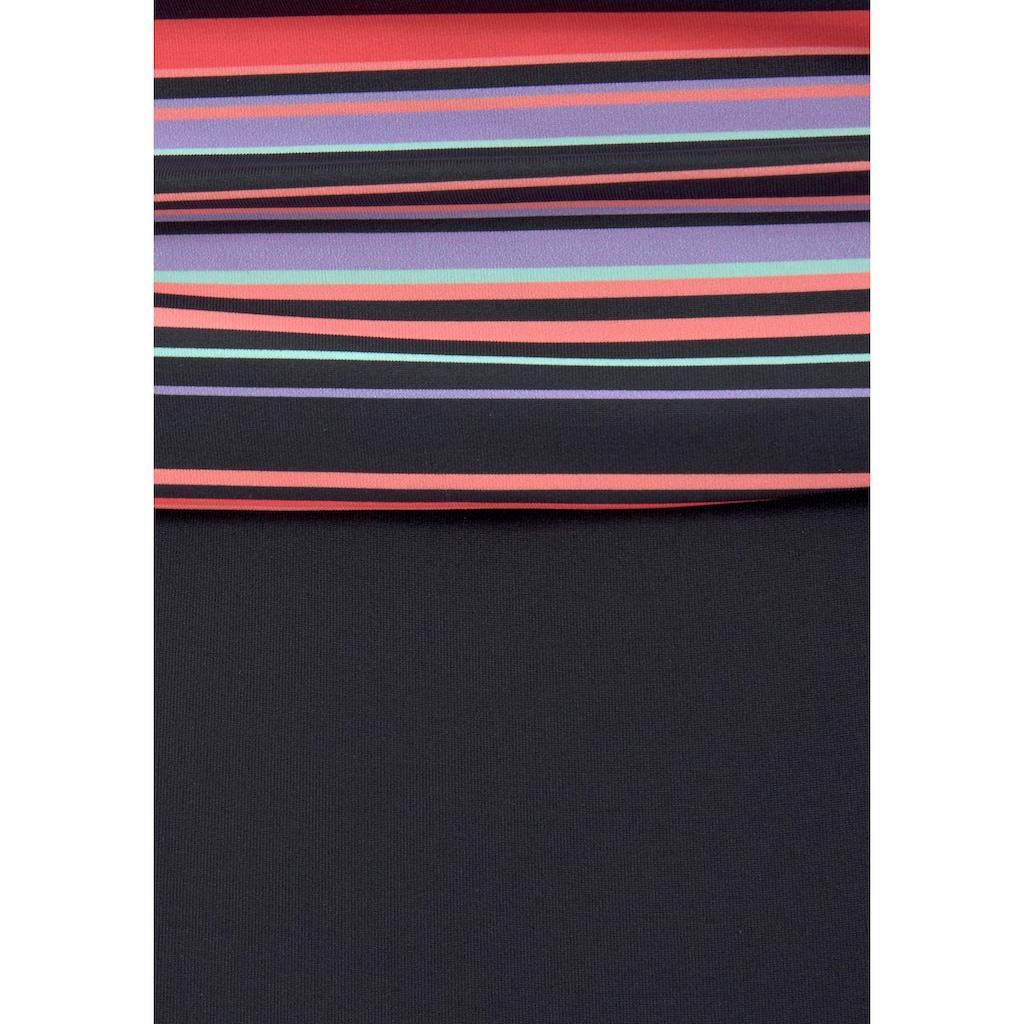 LASCANA Badeanzug, mit Printeinsatz und Shaping-Effekt