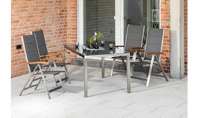 MERXX Gartenmöbelset »Ferrara«, (5 tlg.), 4 Klappsessel, Gartentisch kaufen