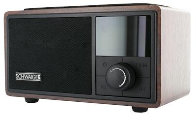 Schwaiger Radiowecker Bluetooth UKW FM Radio Wecker Lautsprecher AUX kaufen