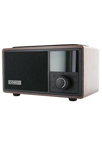 Schwaiger Radiowecker Bluetooth UKW FM Radio Wecker Lautsprecher AUX »Musik Box QI Ladestation« kaufen