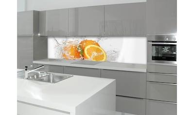 Küchenrückwand  -  Spritzschutz »profix«, Aqua - Orange, 220x60 cm kaufen