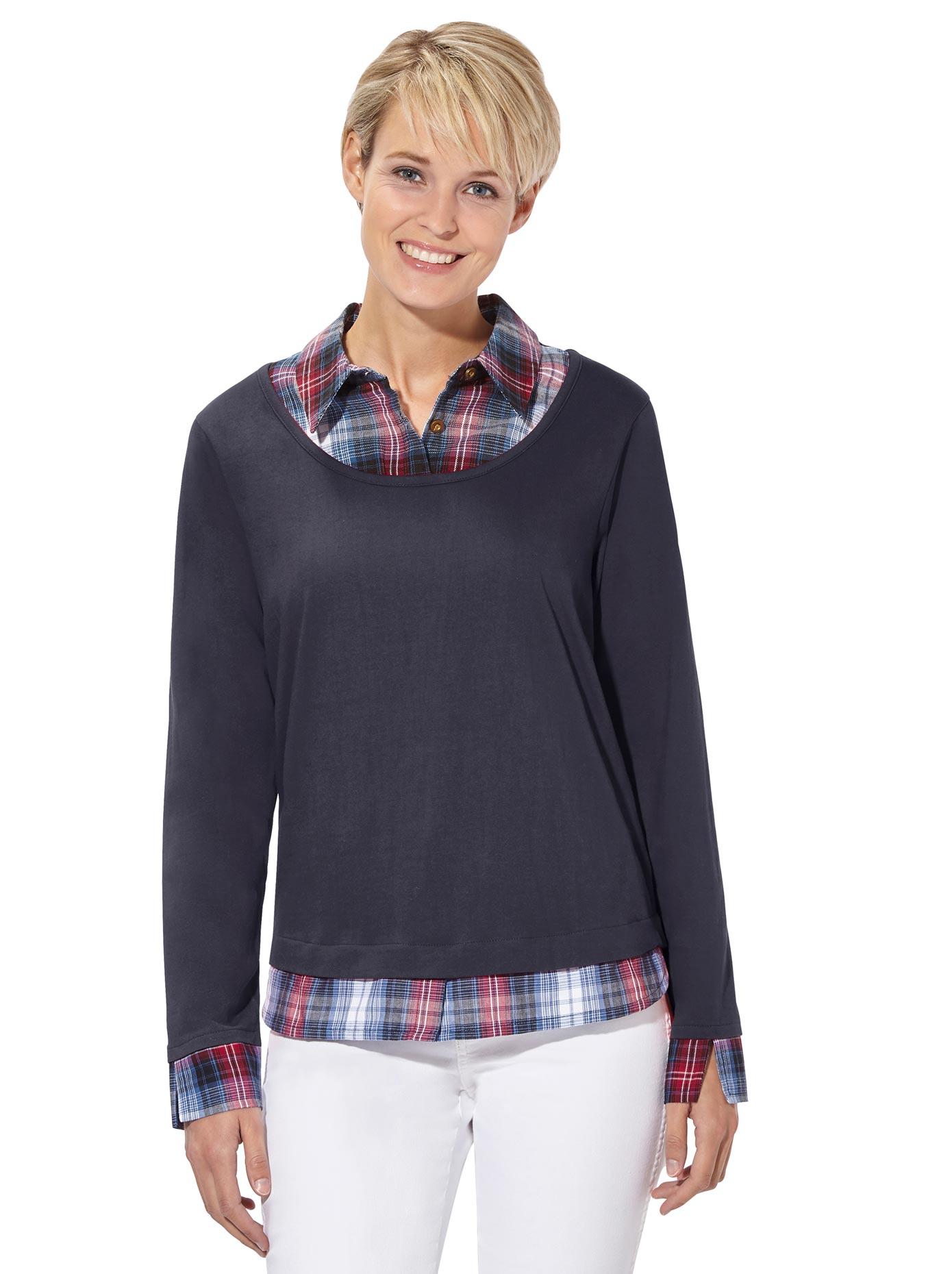 Casual Looks 2-in-1-Shirt im beliebtem Lagen-Look | Bekleidung > Shirts > 2-in-1 Shirts | Casual Looks
