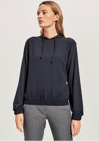 OPUS Kapuzenshirt »Sapuze«, im modischen Material-Mix kaufen