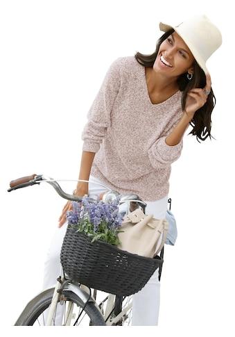Casual Looks Pullover aus weichem Melangegarn kaufen