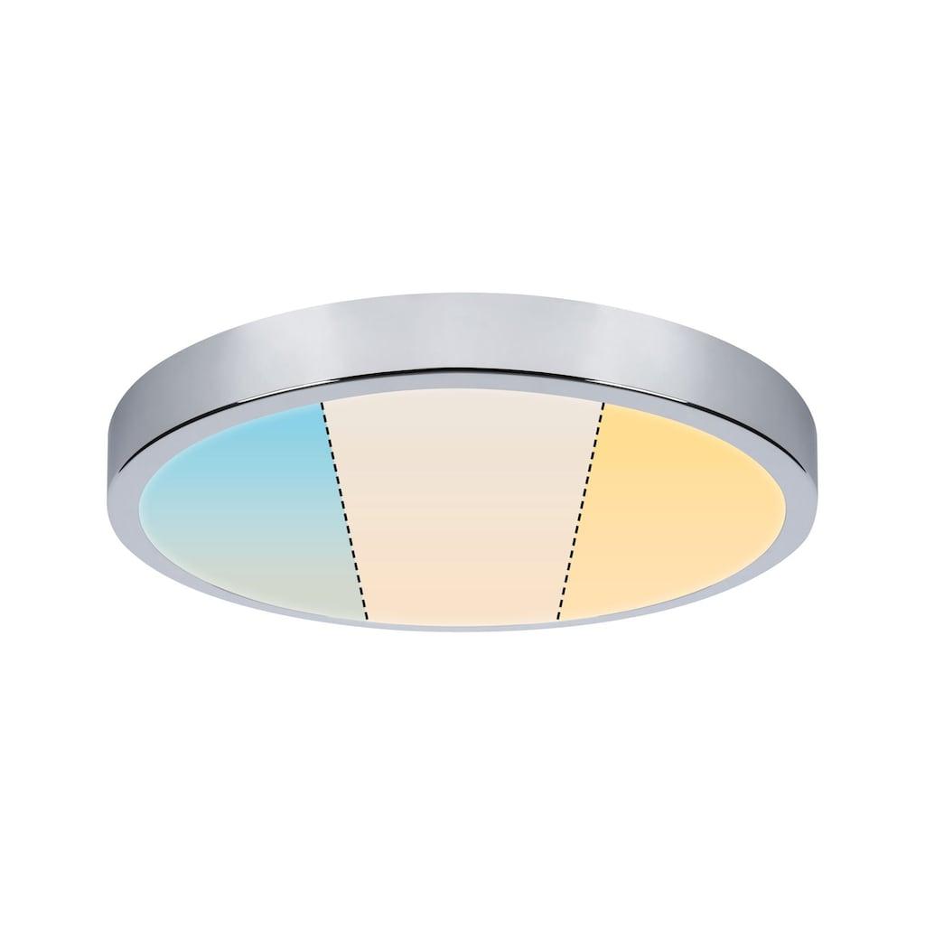 Paulmann LED Deckenleuchte »Panel Aviar rund WhiteSwitch IP44 360mm 24W 2.700K Chrom«, 1 St., Tageslichtweiß