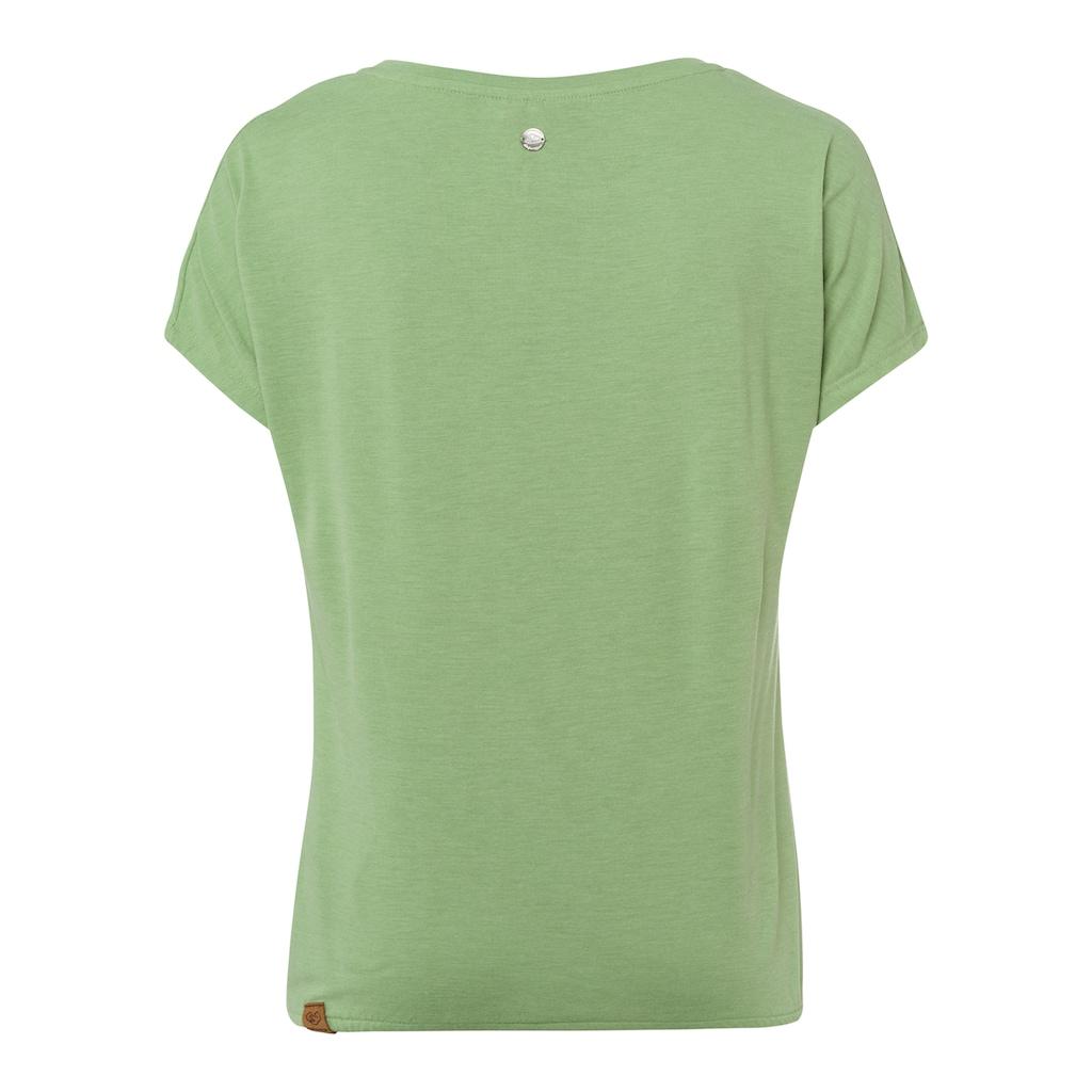 Ragwear Shirttop »PECORI«, mit Gummizug am Saumabschluss