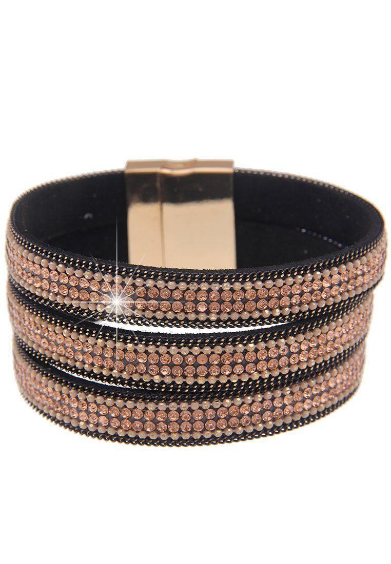 leslii Armband, mit drei Glitzerbändern silberfarben Damen Armband Armbänder Schmuck 4250980333421