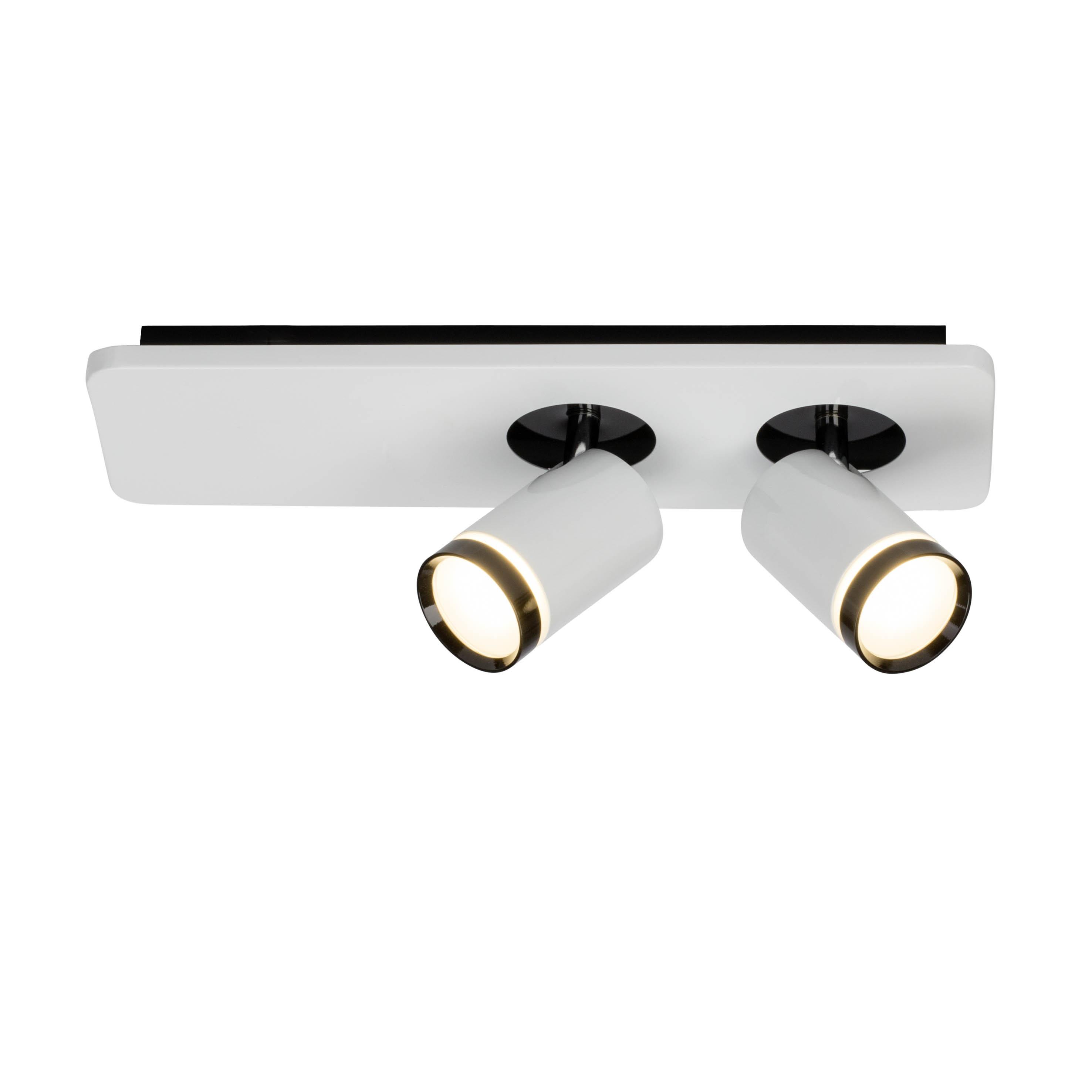AEG Sol LED Spotbalken 2flg weiß-glänzend/schwarz