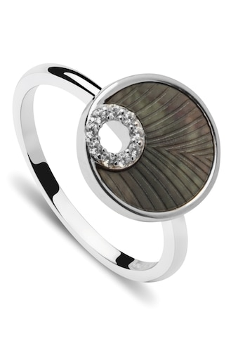 NANA KAY Silberring »ST1755, Shiny circles«, mit Zirkonia (synth.) und Perlmutt kaufen