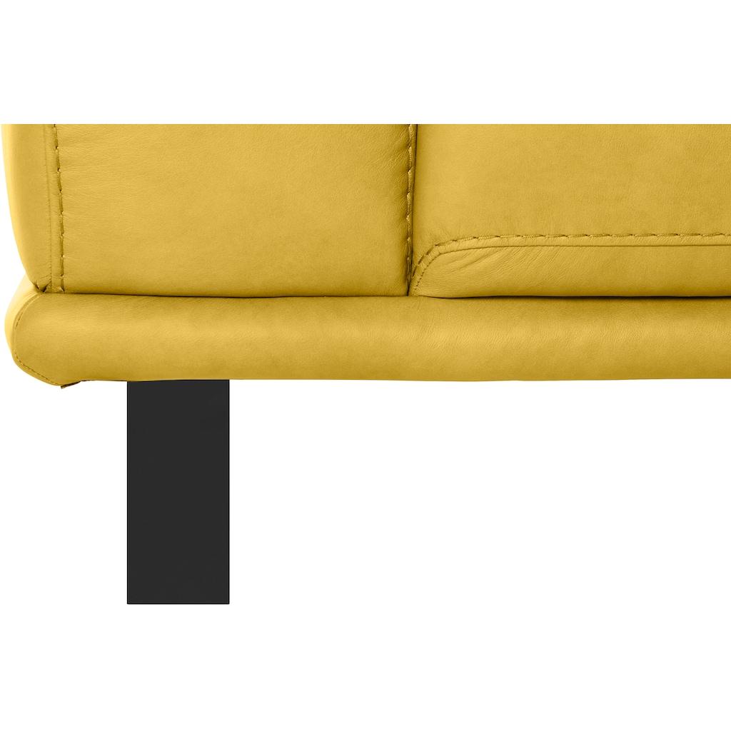 W.SCHILLIG 2,5-Sitzer »montanaa«, mit Metallkufen in Schwarz pulverbeschichtet, Breite 232 cm