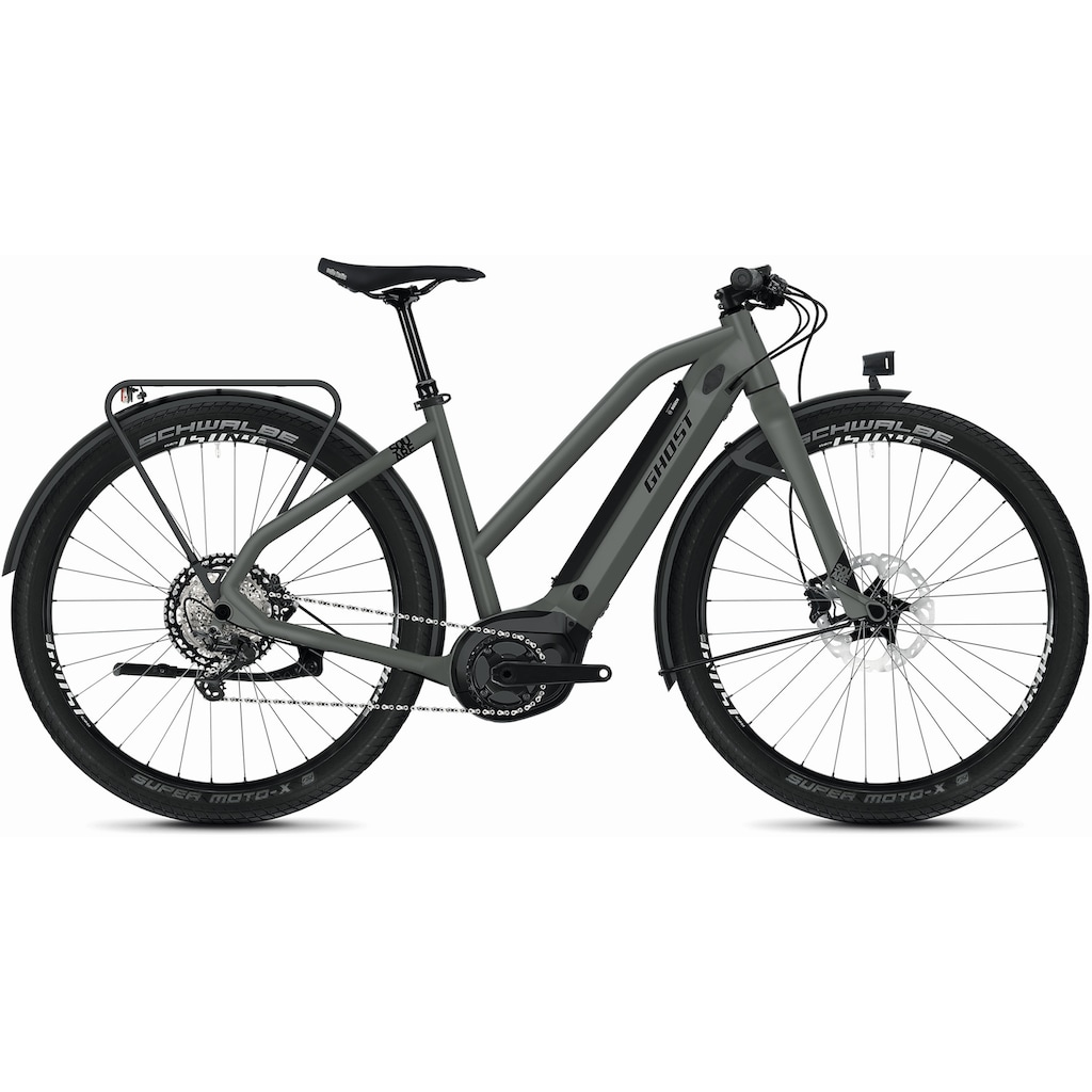 Ghost E-Bike »Hybride Square Travel B4.7+ AL W«, Shimano, XT RD-M8100 12-S