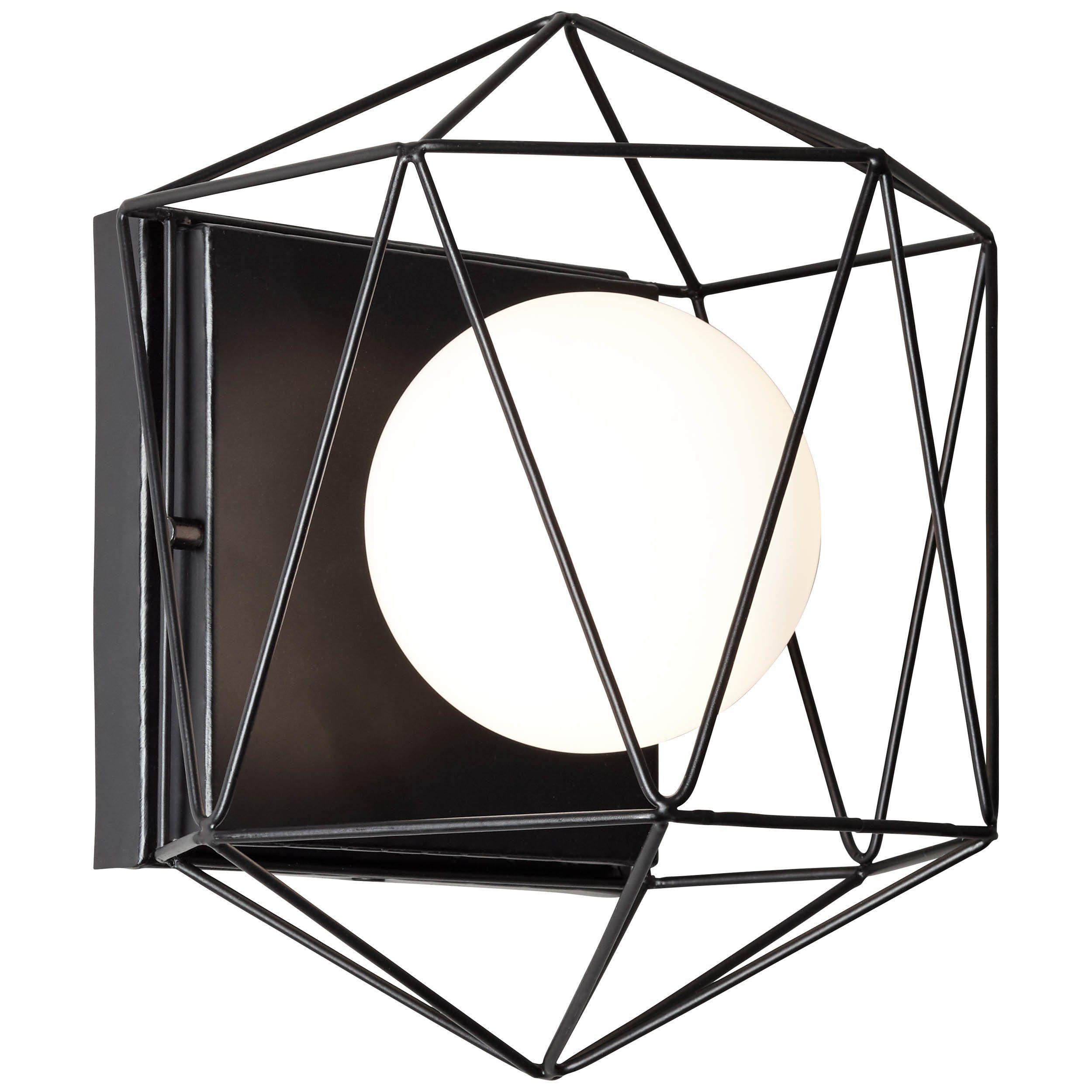 Brilliant Leuchten Synergy Wand- und Deckenleuchte schwarz/weiß