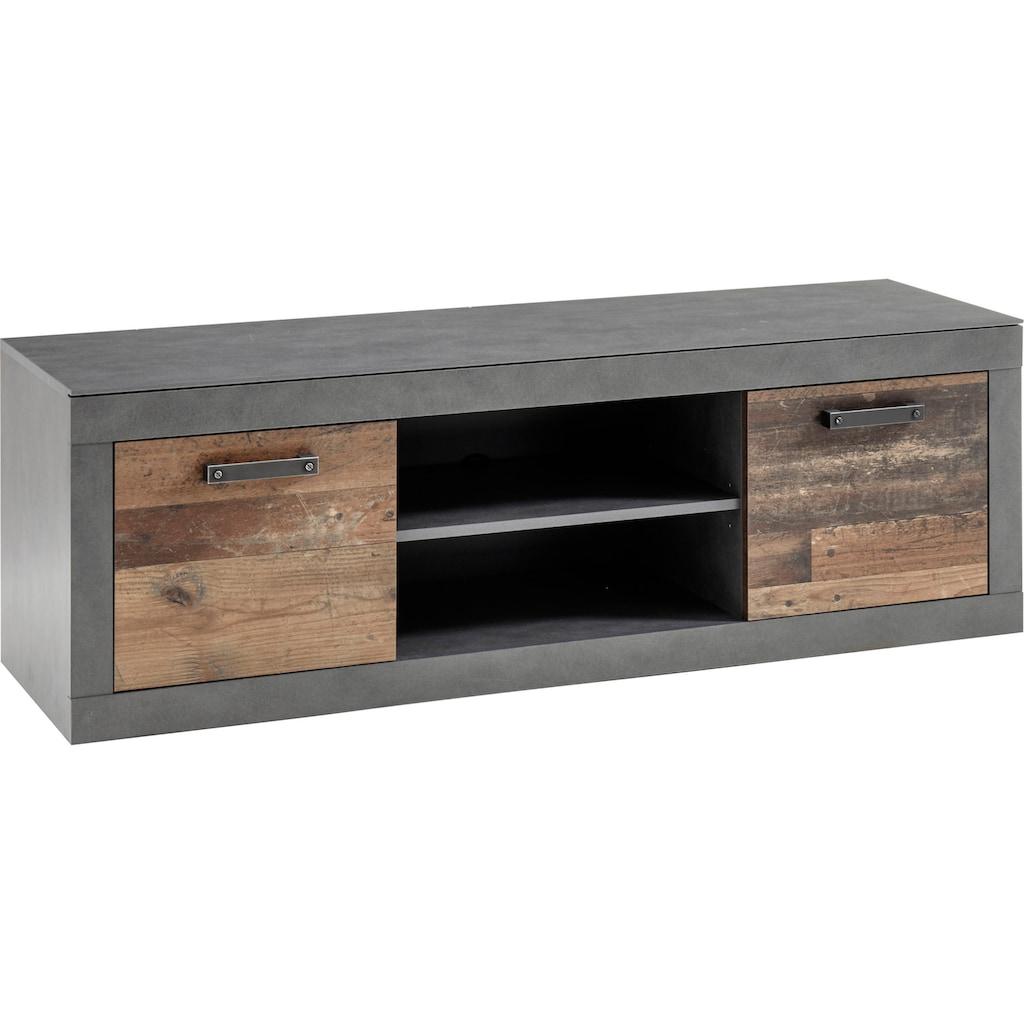Home affaire Lowboard »BROOKLYN«, in dekorativer Rahmenoptik, Fernsehtisch im Industrial Stil