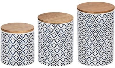 WENKO Vorratsdose »Lorca«, (Set, 3 tlg.), mit robustem Bambus-Deckel, im mediterranen... kaufen