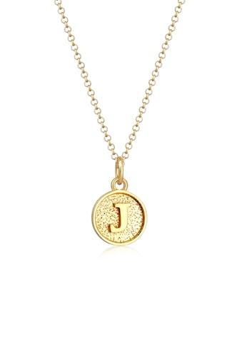 Elli Collierkettchen »Buchstabe J Initialen Vintage Plättchen 925 Silber« kaufen