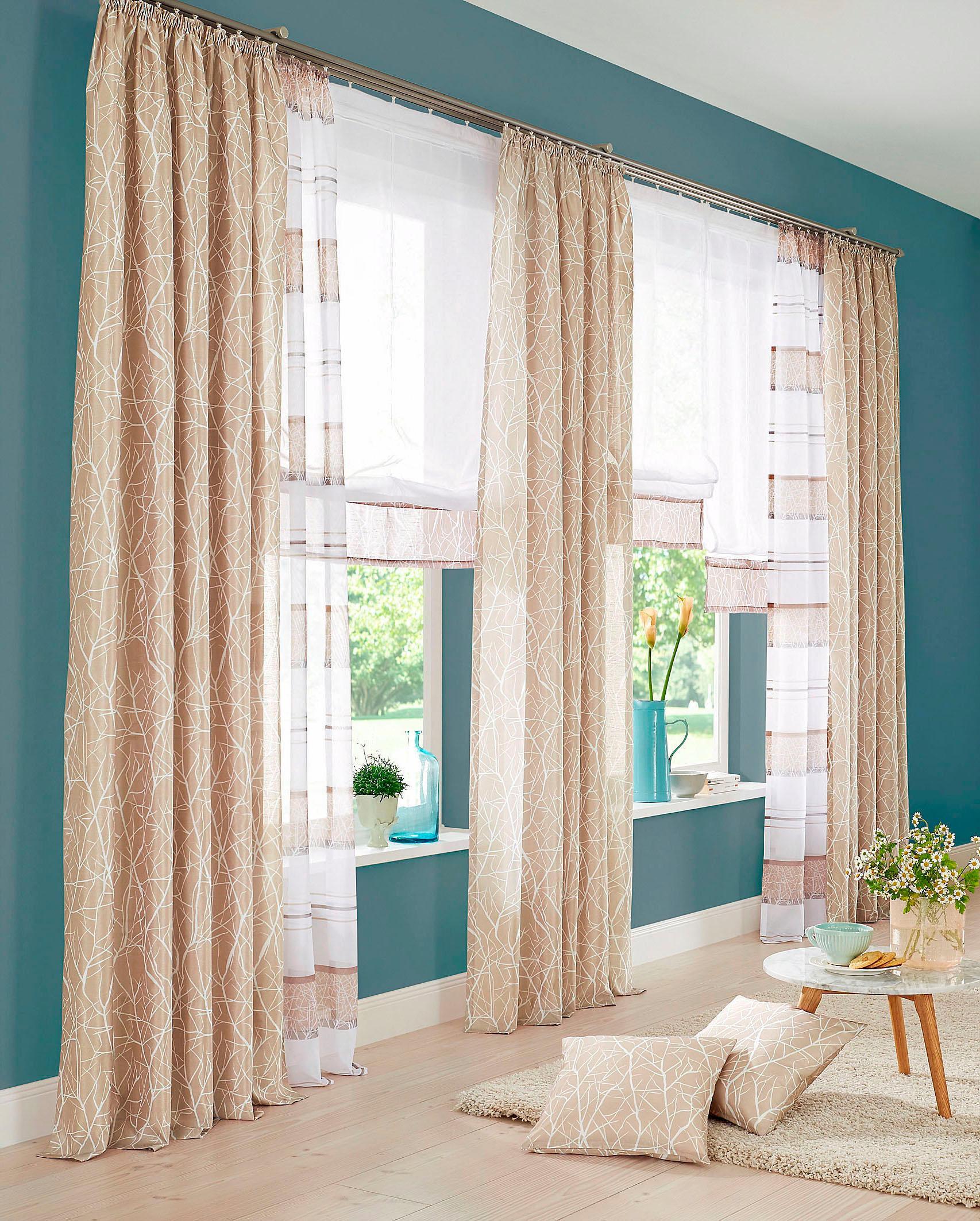 raffrollo camposa mit klettband my home gardinen nach. Black Bedroom Furniture Sets. Home Design Ideas