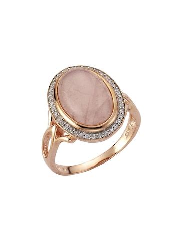 Zeeme Ring »925/ -  Sterling Silber rotvergoldet Rosenquarz« kaufen
