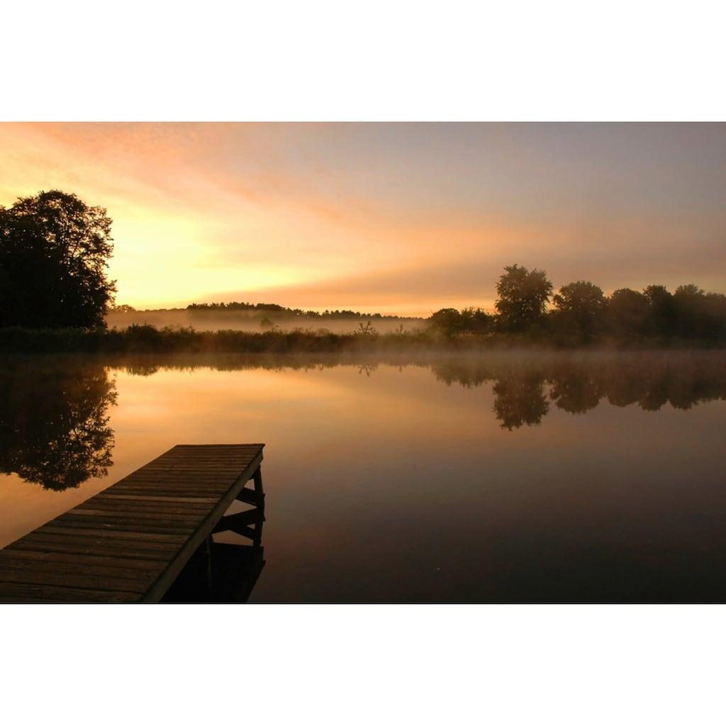 Papermoon Fototapete »Morgenstille am See«, Vliestapete, hochwertiger Digitaldruck