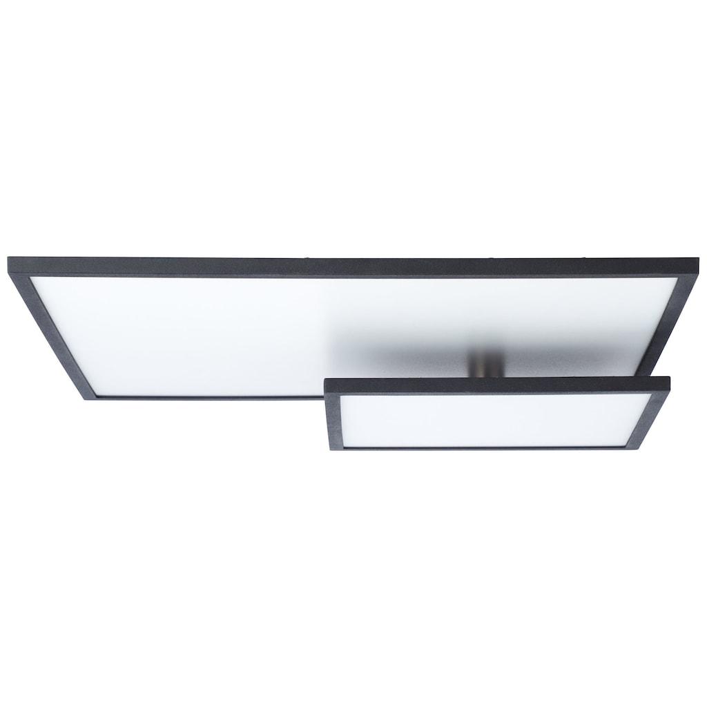 Brilliant Leuchten Bility LED Deckenaufbau-Paneel 62x47cm schwarz/weiß easyDim