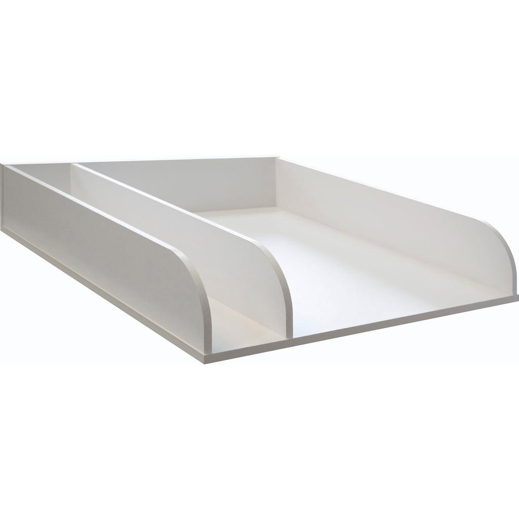 Wickelplatte, zur Auflage auf das Babybett