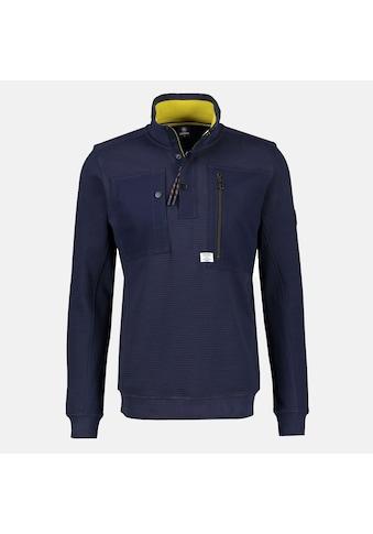 LERROS Sweatshirt »Troyer«, in kerniger, horizontal-gerippter Strickqualität kaufen