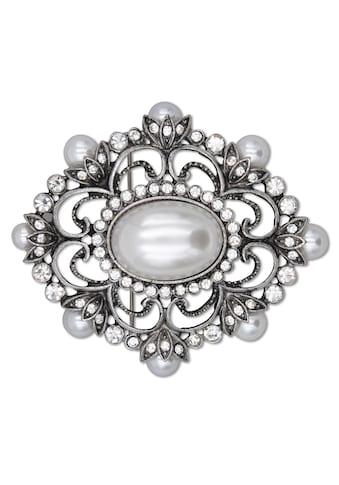 J.Jayz Brosche »metallfarbene Ornamentik« kaufen
