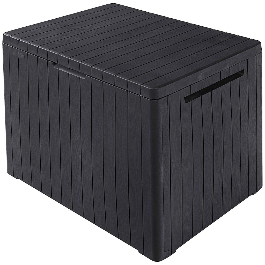 ONDIS24 Gartenbox »City Box«, Sitztruhe aus Kunststoff, 113 Liter, UV-beständig