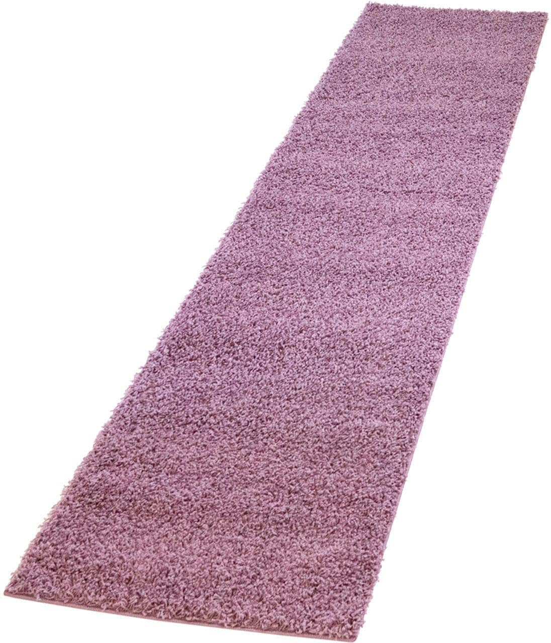 Hochflor-Läufer Pastell Shaggy300 Carpet City rechteckig Höhe 30 mm maschinell gewebt | Heimtextilien > Teppiche > Läufer | Lila | Carpet City