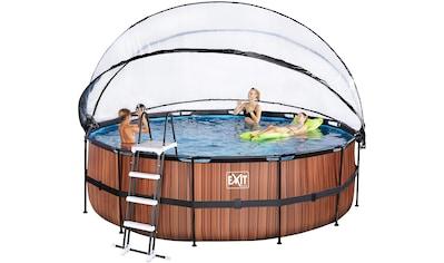 EXIT Framepool, (Set), ØxH: 450x122 cm, mit Sonnendach, Sandfilter kaufen