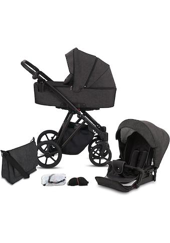 Knorrbaby Kombi-Kinderwagen »Luzon Black Edition, Schiefer«, 15 kg, Gestell faltbar;... kaufen