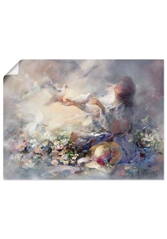 Artland Wandbild »Romantische Reflexionen«, Frau, (1 St.), in vielen Größen &... kaufen