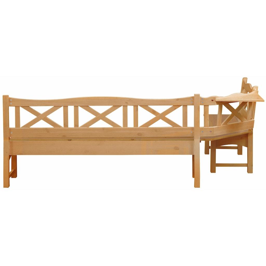 Home affaire Sitzbank »Vanda«, mit zwei Truhen und einer großen Banksitzfläche aus Massivholz