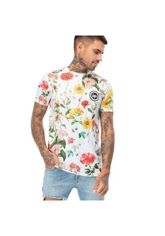 Hype T - Shirt »Herren Regal Birds, buntes Blumenmuster« kaufen