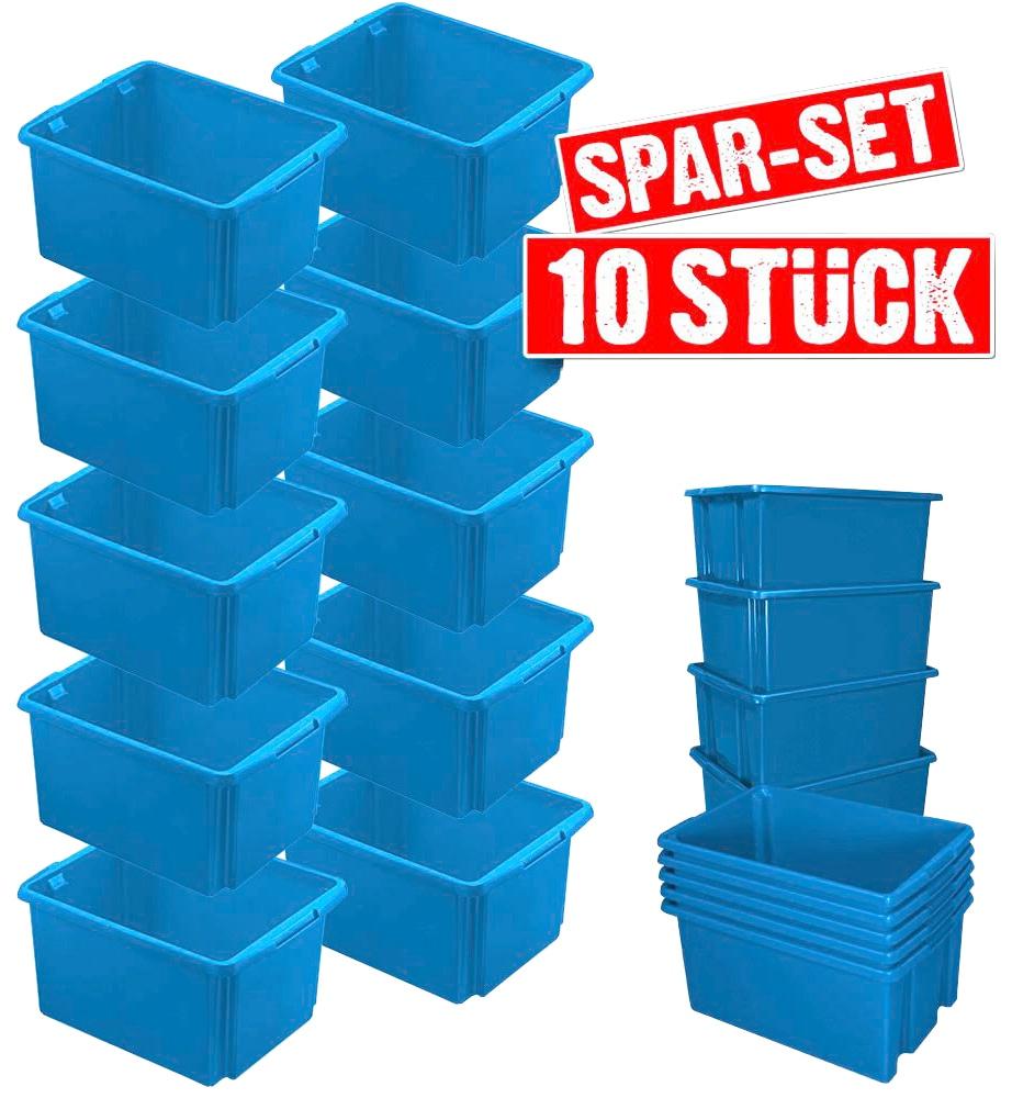 Aufbewahrungsbox, (Set, 10 St.), BxTxH: 36x45,5x24,5 cm blau Kleideraufbewahrung Aufbewahrung Ordnung Wohnaccessoires Aufbewahrungsbox