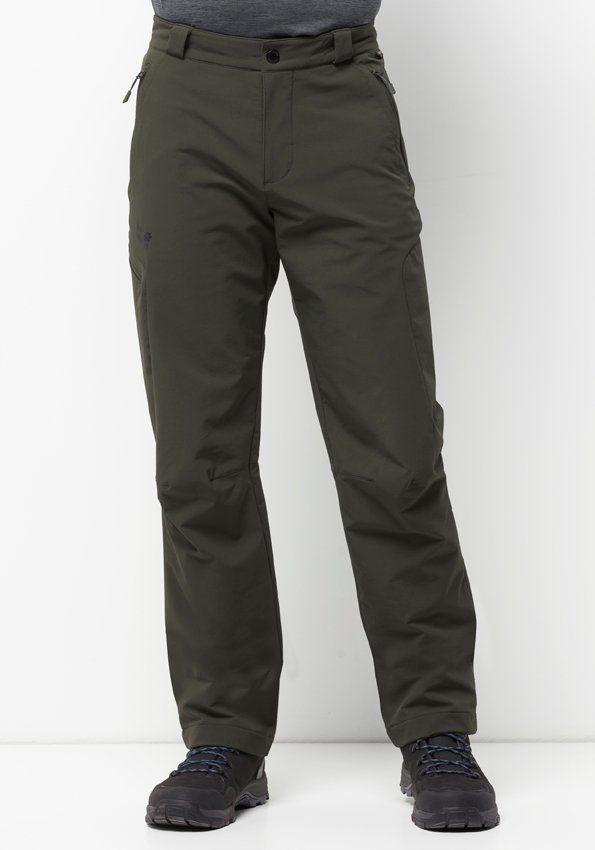 Jack Wolfskin Softshellhose ACTIVATE THERMIC PANTS MEN | Sportbekleidung > Sporthosen > Softshellhosen | Grün | Jack Wolfskin