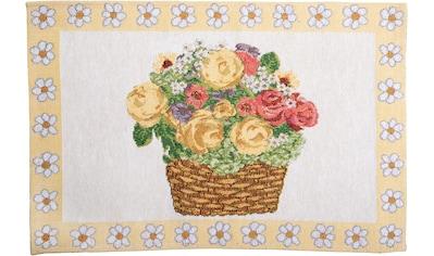 SPRÜGEL Platzset »Blumenkörbchen«, (Set, 4 St.), Gobelin kaufen