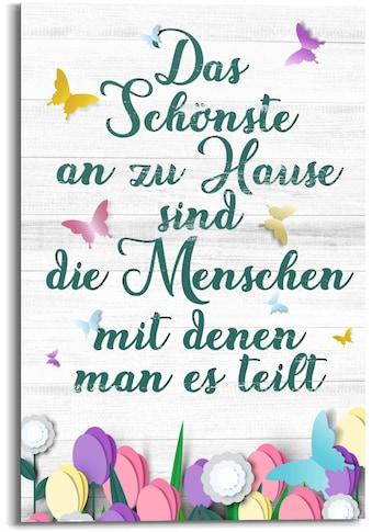 Reinders! Wandbild »Wandbild Zu Hause Familien - Lebensfreude - Weisheit«, Schriftzug,... kaufen
