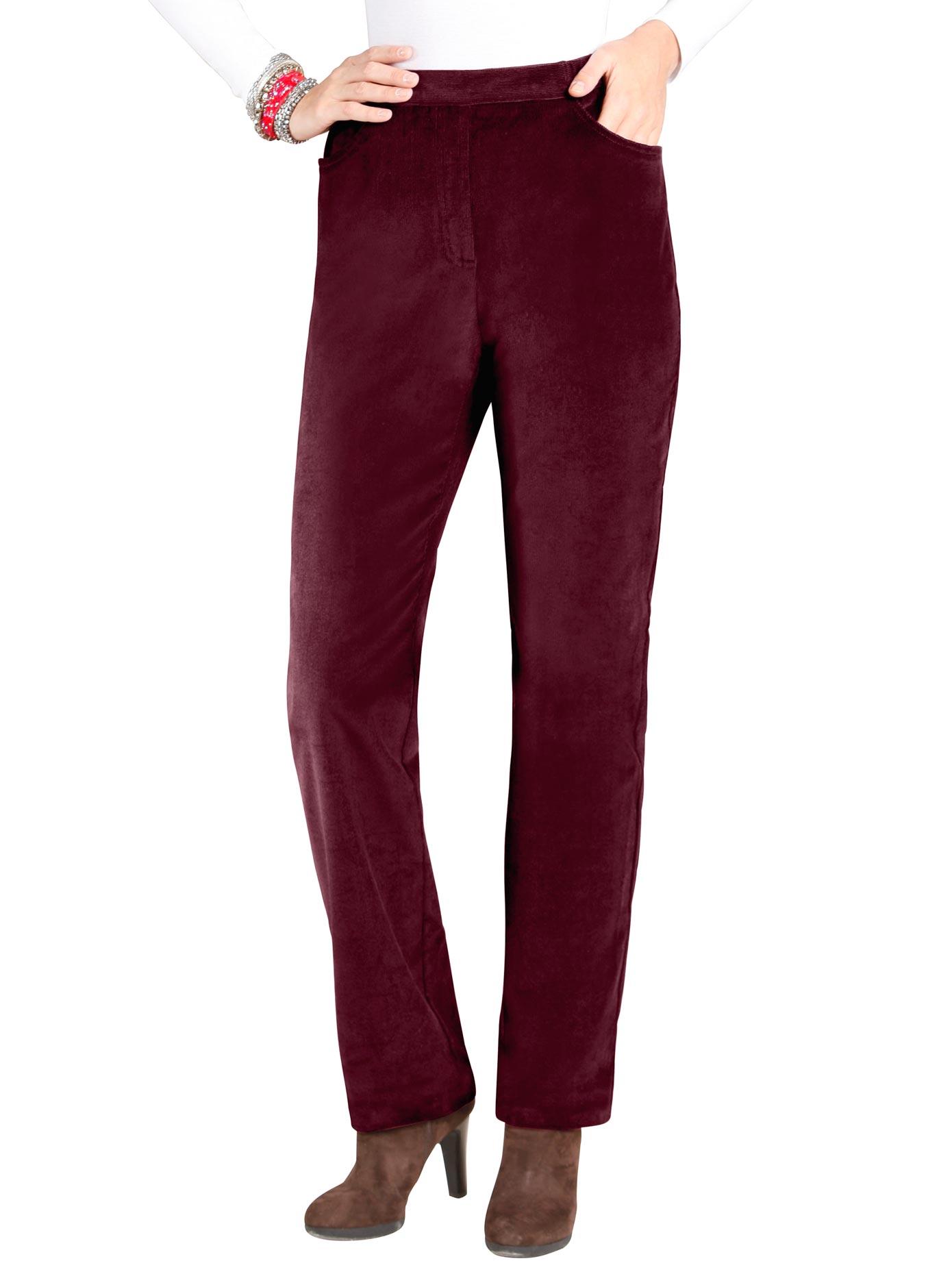 classic basics -  Cord-Hose mit fester Bundpatte vorne für eine flache Bauchpartie
