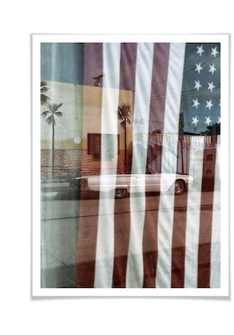 Wall-Art Poster »Flagge Amerika Reflection USA«, Autos, (1 St.), Poster, Wandbild,... kaufen