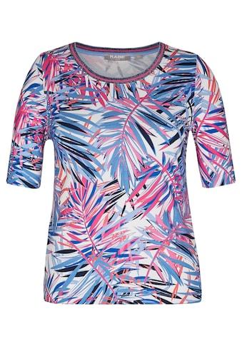 Rabe T - Shirt mit buntem Allover - Print und Glitzergarn kaufen