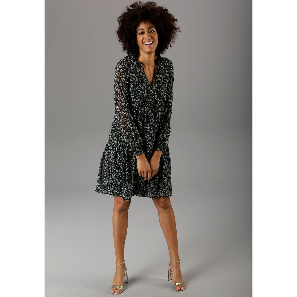 Aniston CASUAL Chiffonkleid, mit Paisley- oder Blütendruck - chic sind beide